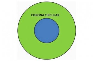 Pintar la corona circular