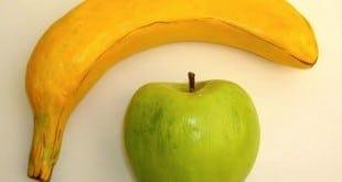 Plátano y manzana