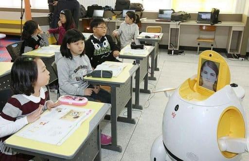 Robot escuela Corea del Sur