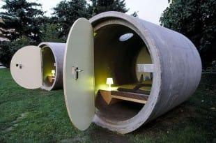 Hotel en tubos de drenaje