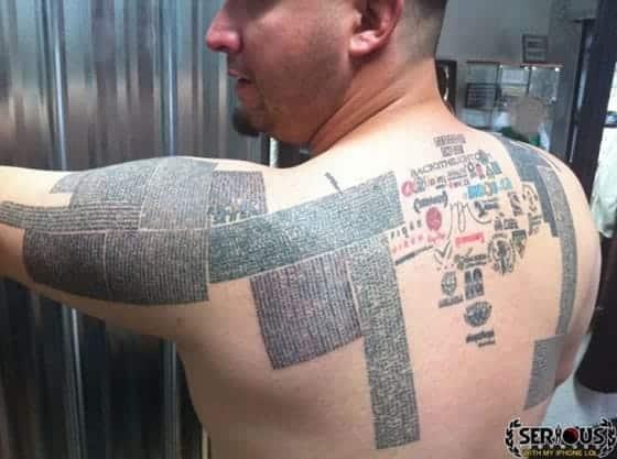 Record mundial de URLs tatuadas