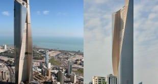 La torre de 412 metros de altura