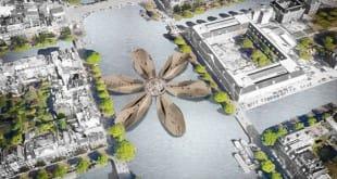 Propuesta de puente peatonal para Ámsterdam