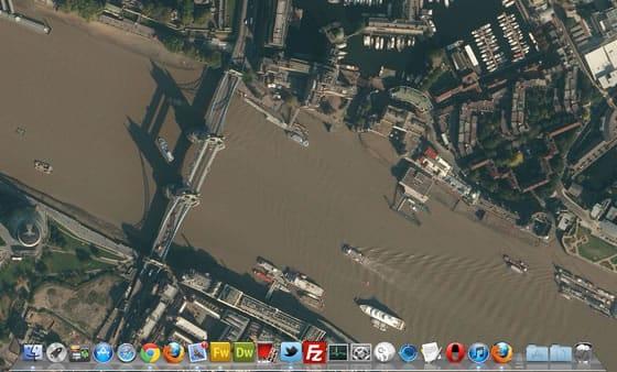 Satellite Eyes, fondo de pantalla de Mac según tu ubicación