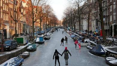 Cuando el frío aprieta en Ámsterdam