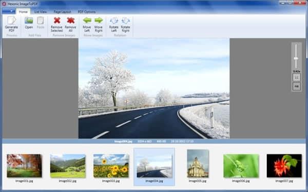 Convierte imágenes en documentos PDF con Hexonic ImageToPDF
