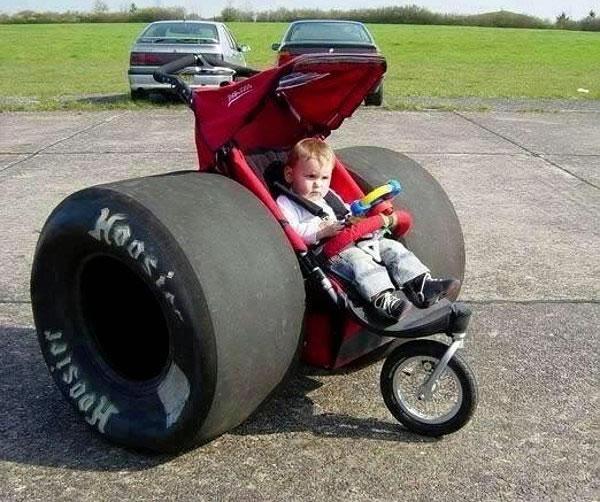 Un original carrito de bebé
