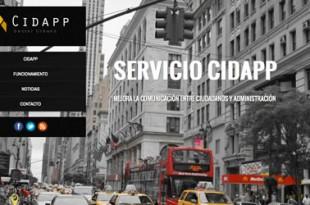CidApp, gestor de incidencias en tu ciudad