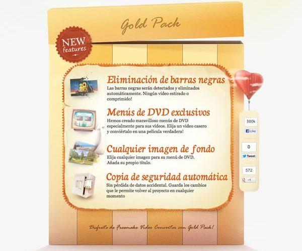 Edición y conversión de vídeo utilizando Freemake Video Converter 4.0 con Gold Pack