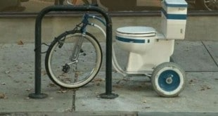 Una water bicicleta