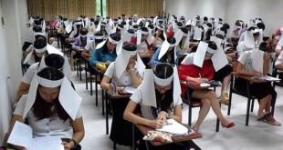 'Casco' para no copiar en los exámenes