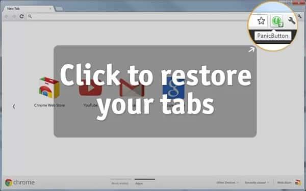PanicButton, para ocultar todas las pestañas en Google Chrome