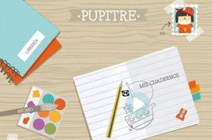 Pupitre, actividades escolares en iPad