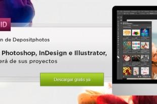 La extensión de Depositphotos.com para productos de Adobe