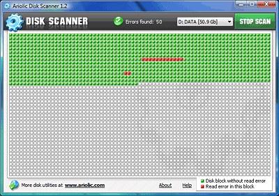 Ariolic Disk Scanner, averigua si tu disco duro tiene errores de lectura