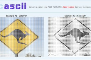 PicAscii, para convertir imágenes en texto ASCII