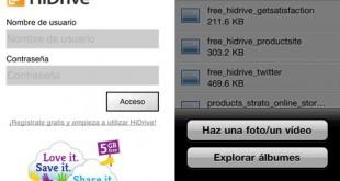 Aplicaciones para acceder a HiDrive desde un dispositivo móvil