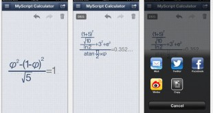 Operaciones matemáticas en tu dispositivo móvil con MyScript Calculator