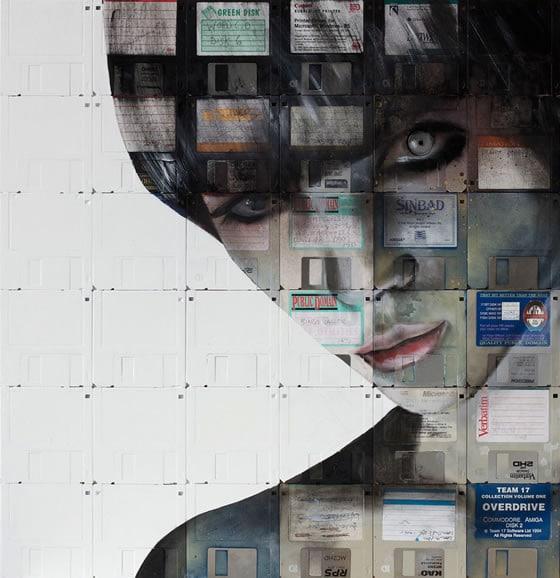 Arte con diskettes