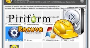Recupera archivos borrados con Recuva portable