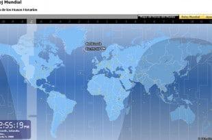 Reloj Mundial, la hora exacta en cualquier lugar del mundo