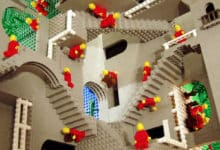 Photo of La obra de Escher en piezas de Lego