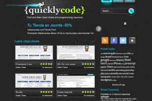 QuicklyCode, buscar y compartir trucos y códigos de programación