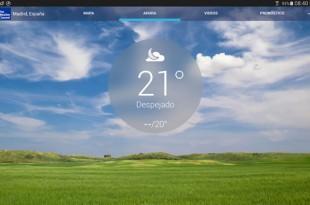 El tiempo atmosférico en tu dispositivo móvil