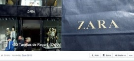 El último engaño en Facebook, las tarjetas regalo de Zara