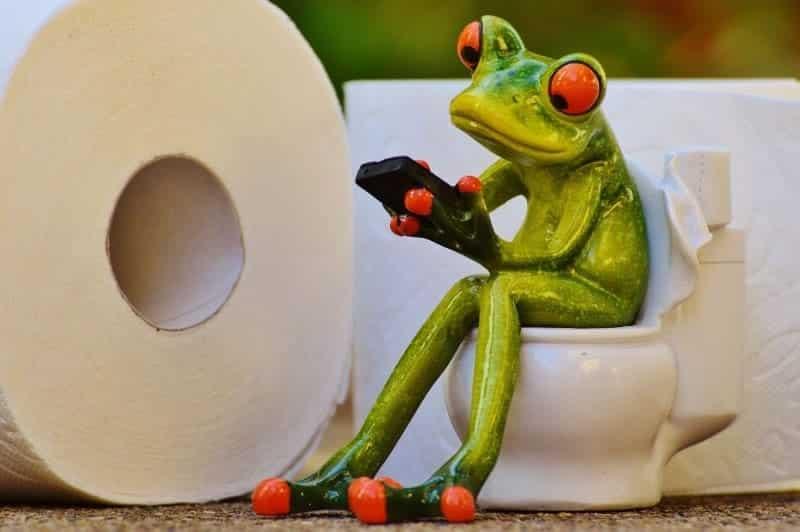Juegos de smartphone en el cuarto de baño con Toilet Time