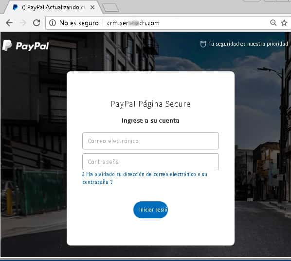 Acceso a PayPal
