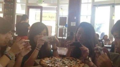 La pizza y el móvil