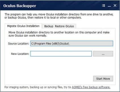 Oculus Backupper