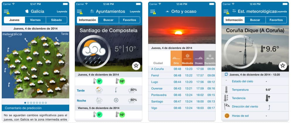 MeteoGalicia iPhone