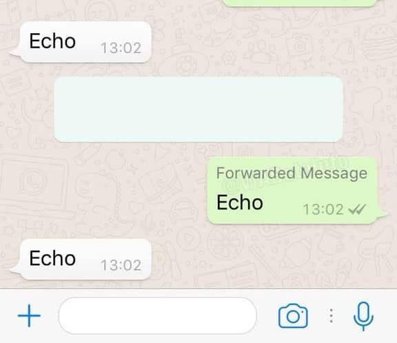 Mensaje compartido