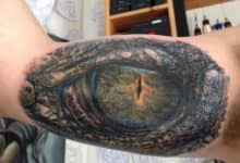 Photo of Tatuaje del ojo de un cocodrilo