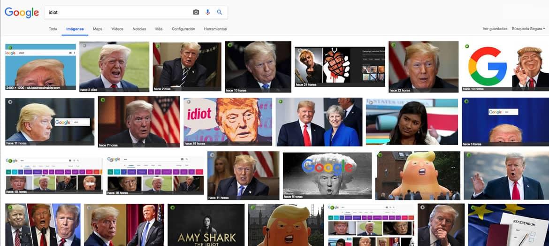 Trump en imágenes de Google