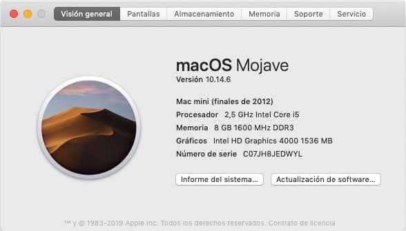 Acerca de este Mac