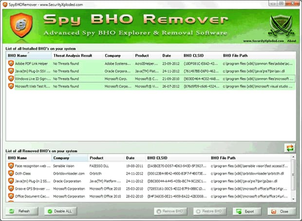 Spy BHO Remover