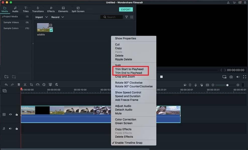 Funciones del editor de vídeo