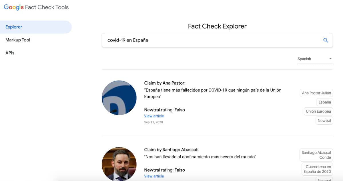 Fact Check Explorer