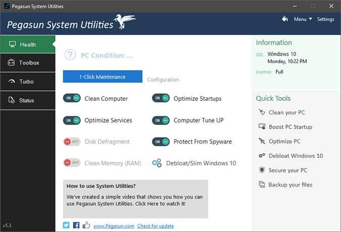 Pegasun System Utilities