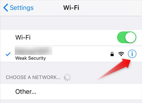 Settings WiFi