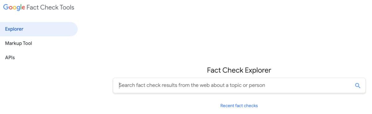 Google Fact Check Tools