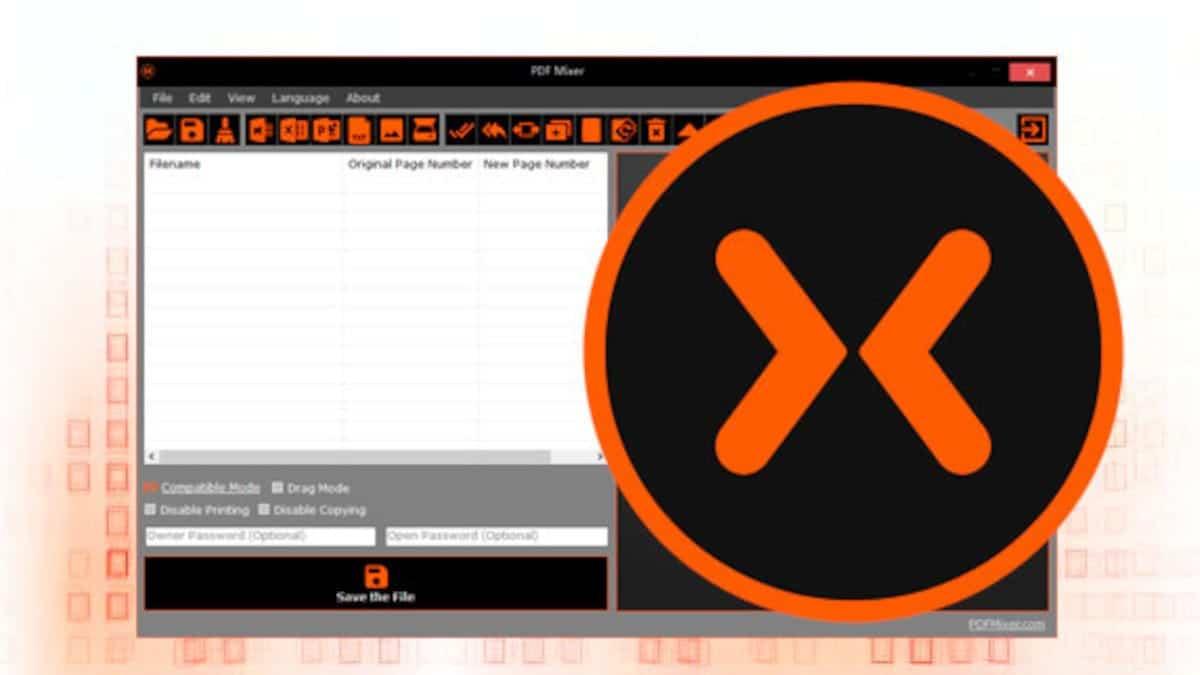 PDF Mixer, para combinar documentos PDF