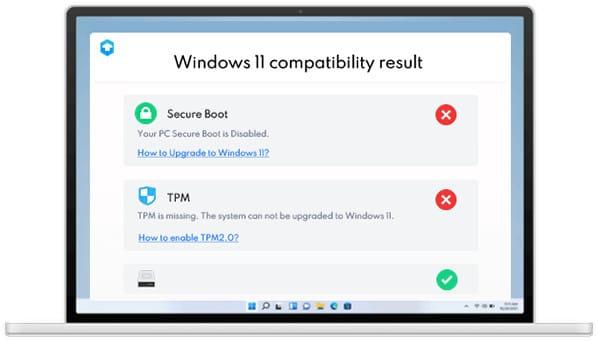 Resultados de compatibilidad de Windows 11